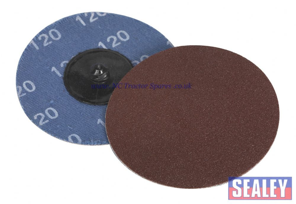 Quick Change Sanding Disc 75mm 120Grit Pack of 10